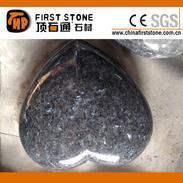 蓝珍珠花岗岩心形雕刻GGQ049