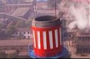 烟囱顶口拆除更换避雷装置