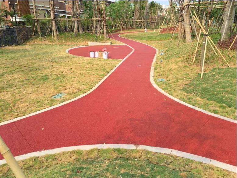 湖南省长沙市海绵城市透水混凝土铺装270平米