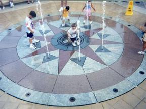 喷泉铺装广场_