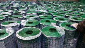 绿色圈地铁丝网 包塑铁丝围栏