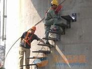 绍兴烟囱平台旋转楼梯安装、Z形钢折梯安装、安装螺旋形爬梯