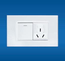 一联单控荧光开关带多功能插座,一联双控荧光开关带多功能插座