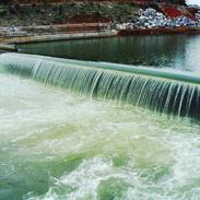 世界首座五米高液压升降坝 合页坝 卧倒坝 橡胶坝 橡皮坝