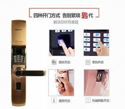 密码指纹锁哪种品牌的好,李文锁城室内门锁值得信赖