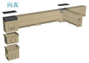 宁夏回族自治区树脂混凝土线性缝隙式成品排水沟树脂混凝土线性