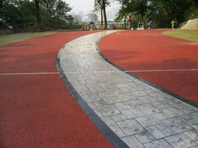 彩色透水地坪,园林景观路面材料