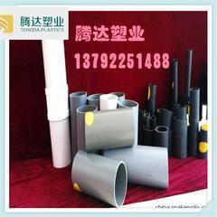山东青岛厂家供应PVC实壁管,灰色地埋通信用管,耐腐蚀直壁管