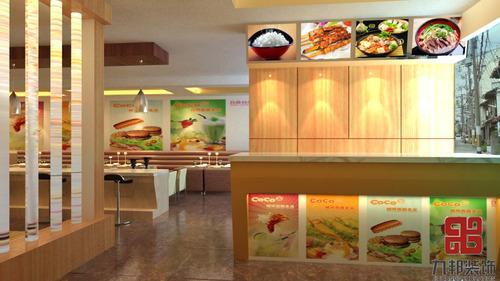 石家庄九邦装饰公司,餐饮饭店装修布局,格调及采用何种材料和石.