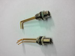 法兰M8插座3针3孔,4针4孔