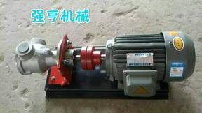 不锈钢高粘度转子泵用于药乳液的输送流量大寿命长