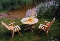 园林防腐木材-户外桌椅