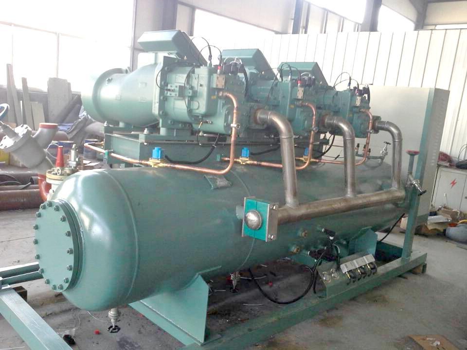 氟利昂多机头并联高效油分制冷机组