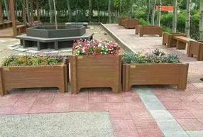 三合一仿木花箱