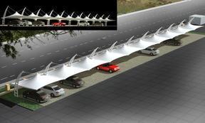 福建膜结构车棚,福州膜结构车棚,厦门膜结构车棚,