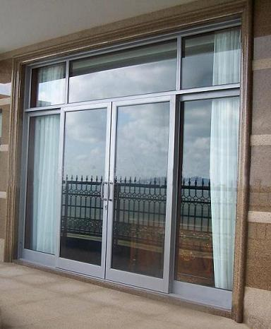 Temporary sliding door