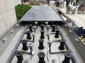 华润万象城使用万能支撑器架空系统