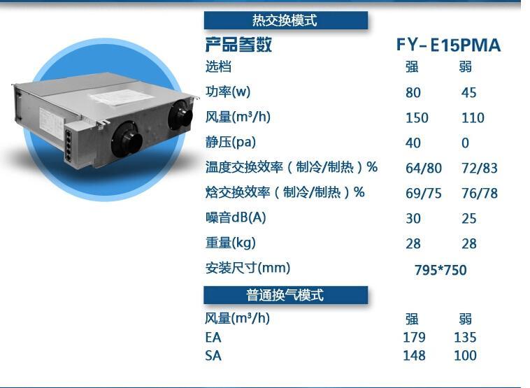 fy-e15pma(l)新风全热交换器松下系统新款小酒庄装修效果图图片