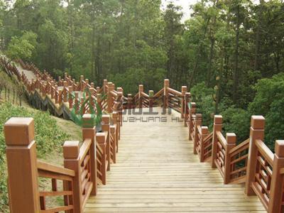 仿木栏杆,栈道栏杆,仿木栈道,景观护栏,隔离护栏