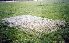 防洪抢险用铅丝笼、六角镀锌石笼网