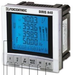 法国溯高美SOCOMEC DIRIS A40、A20多功能电表