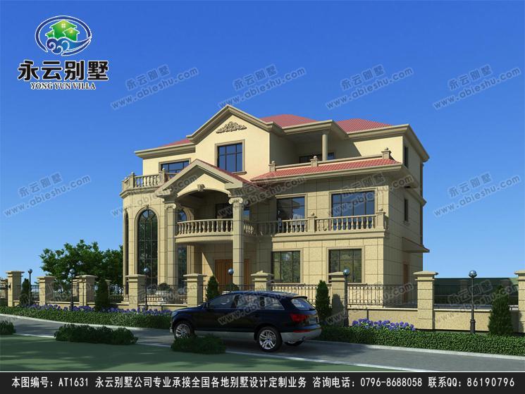 【送裝修圖】at1631 新農村豪華復式樓三層別墅