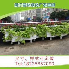 厂家定制 市政道路行道树景观工程PVC微发泡3+2户外组合园艺花箱