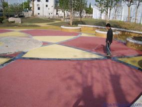 株洲公园透水地坪设计新颖