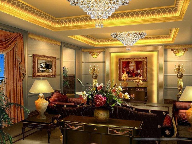 欧式客厅装修图片; 成都效果图制作公司 室内设计