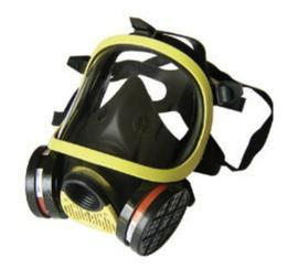 双过滤盒全面防护防毒面具