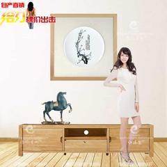 国风艺术瓷盘实物装饰画梅兰竹菊新中式玄关客餐厅卧室书房壁挂画