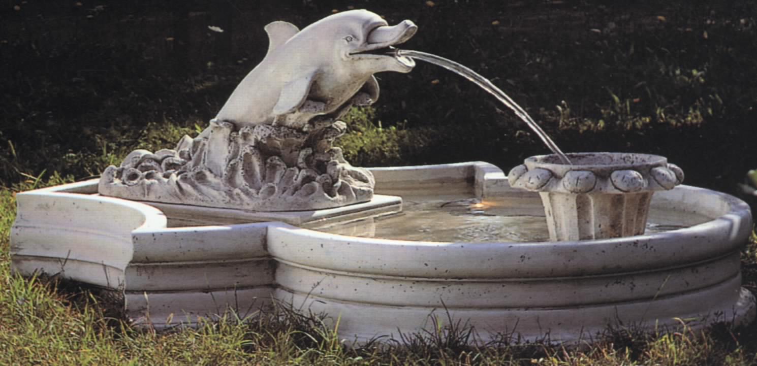 水池雕塑手绘效果图