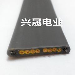 电动伸缩门扁线 8芯0.75平方双钢丝绳扁电缆