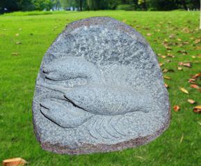 花岗岩2D石雕小龙虾GAB549