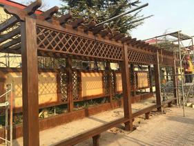 郑州凉亭设计公司 长廊设计 花架设计