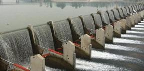 自动翻板坝改造