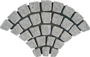 灰白色花岗岩扇形马赛克地砖HZW-66-T