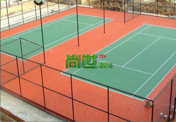 网球场地_图标准的网球场地