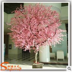 厂家供应影楼摄影首选 仿真樱花树 酒店装饰玻璃钢工艺品 树脂