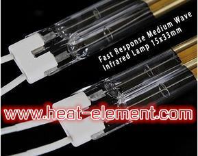 印刷行业烘道烧烘高温加热红外线灯管、石英管