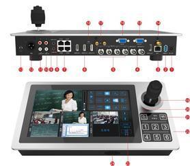 尼科wifi/4g无线便携式会议数字录播一体机