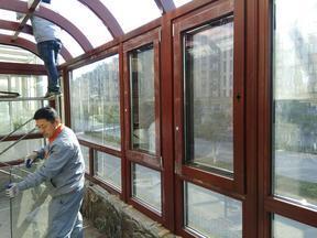 泰州市贝科利尔门窗生产销批发构件式铝包木阳光房
