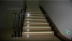 楼道止步防滑条夜光铝合金防滑条楼梯踢脚线