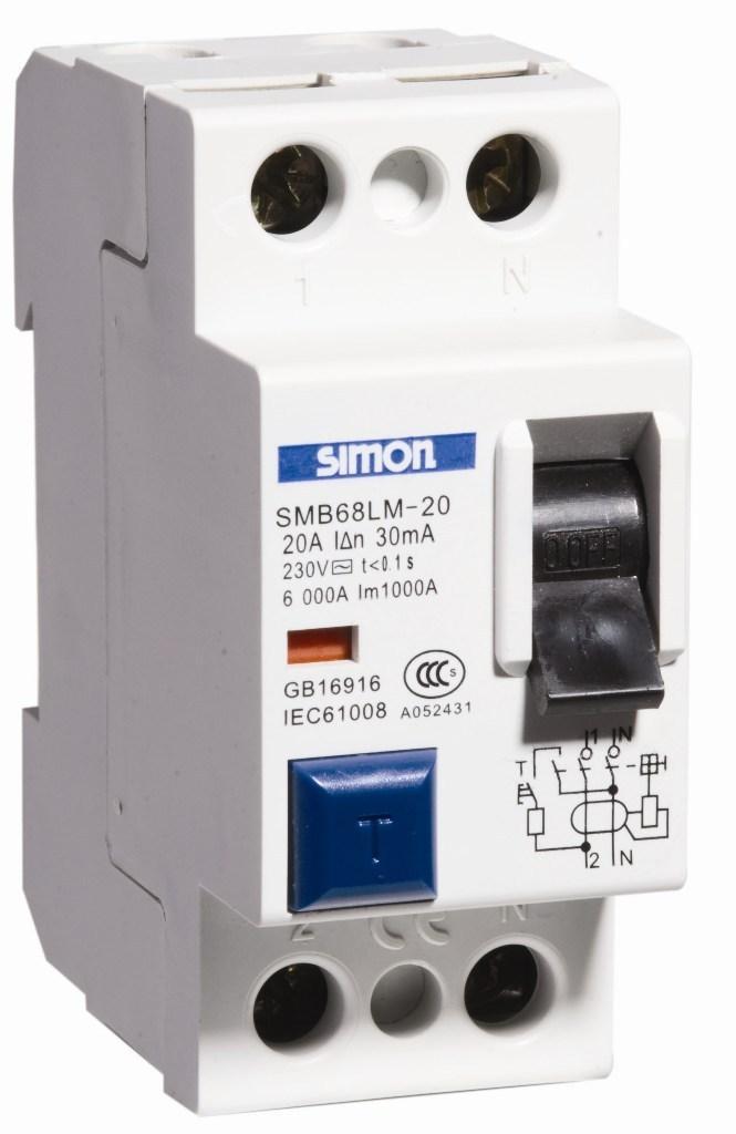 西蒙smb68lm/2p电磁式漏电断路器
