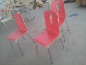 彩漆餐椅,防火板餐椅,新款弯木餐椅