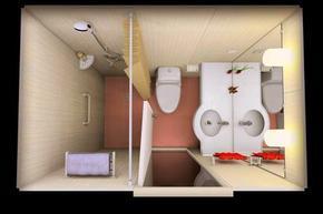 宾馆整体卫生间集成防水浴室