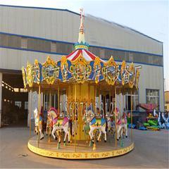 户外儿童游乐项目16座豪华转马