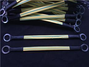 电缆线黄绿静电跨接线 软皮绝缘连接线