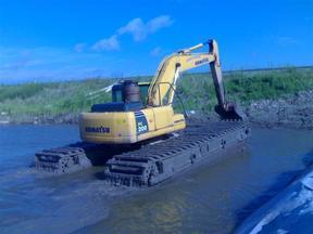 河南水陆两用挖掘机租赁 水上挖掘机出租