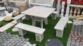 白麻花岗岩桌椅套装GCF431